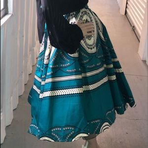 African Print Skirt Set
